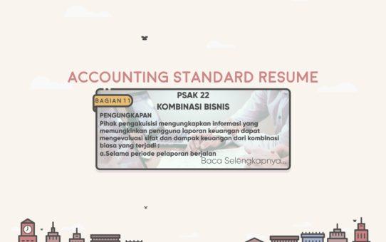 Accounting Standard Resume (PSAK 22 Bagian 11)