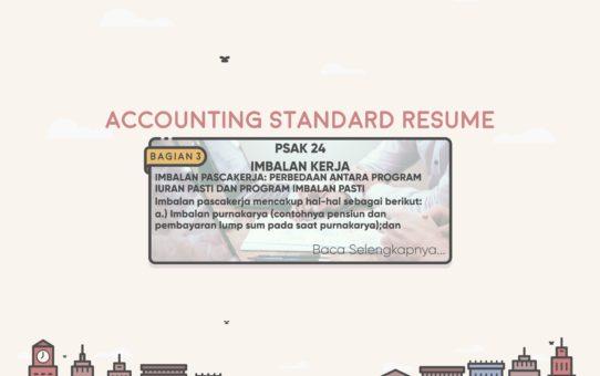 Accounting Standard Resume (PSAK 24 Bagian 3)