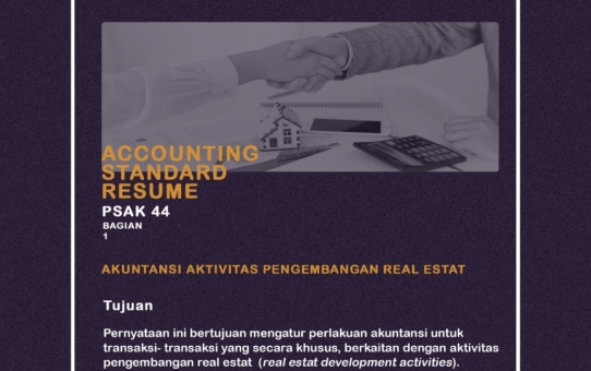Accounting Standar Resume (PSAK 44)