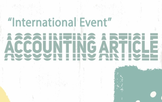 "Accounting Article "" International Event"""
