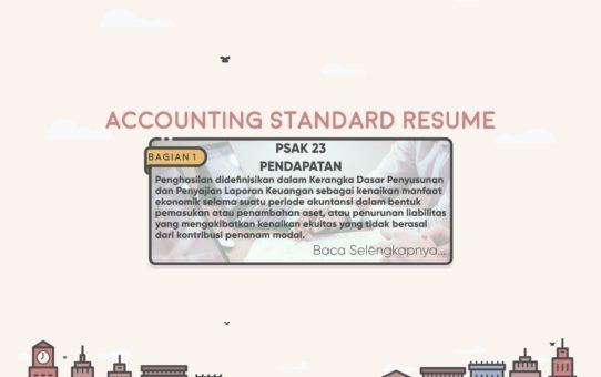 Accounting Standard Resume (PSAK 23 Bagian 1)