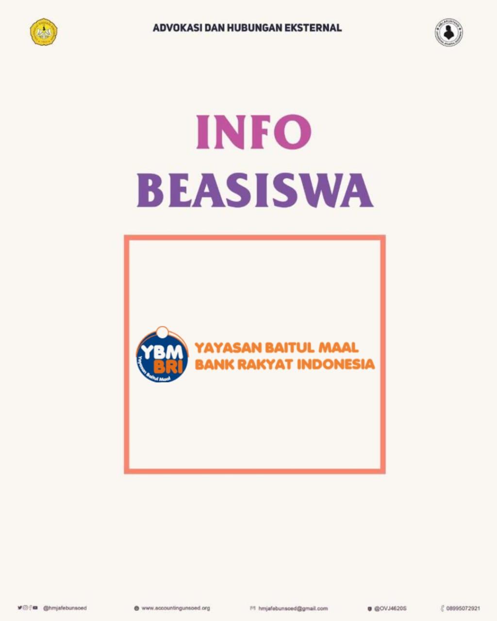 YBM BRI (Info Beasiswa)